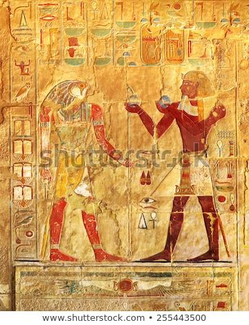 ősi · Egyiptom · képek · hieroglifa · fal · férfi - stock fotó © mikko