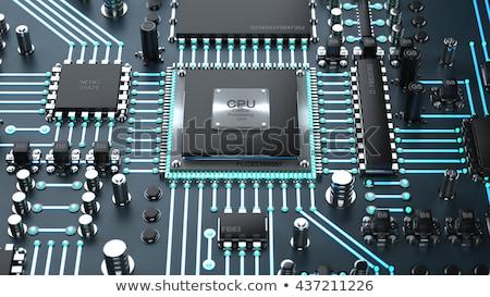 central · processeur · unité · carte · mère · modernes · maison - photo stock © mikko