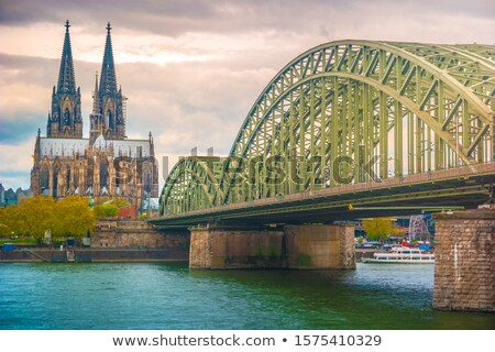 Cologne Cathedral and Bridge Stock photo © unkreatives