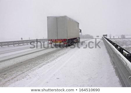 vrachtwagen · beweging · snelweg · Nebraska · business · weg - stockfoto © stevanovicigor