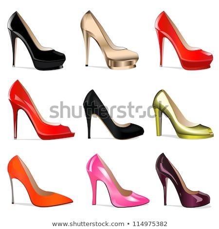 Preto fetiche sapatos isolado branco Foto stock © Elisanth