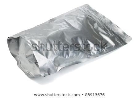 Stock photo: close up of an aluminum bags