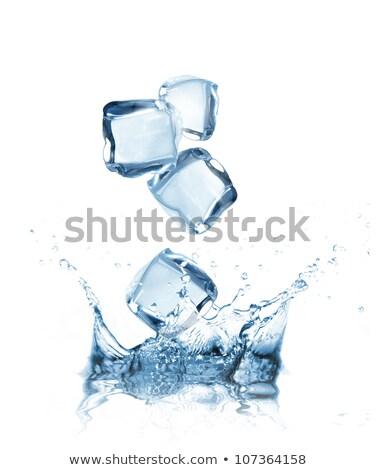 een · Ice · Cube · water · voedsel · licht · glas - stockfoto © rob_stark