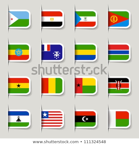 флаг Label Ботсвана изолированный белый знак Сток-фото © MikhailMishchenko