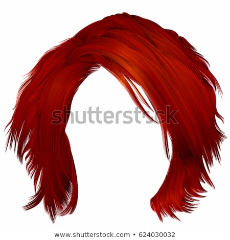 Beautiful female with red hair and fringe Stock photo © stryjek