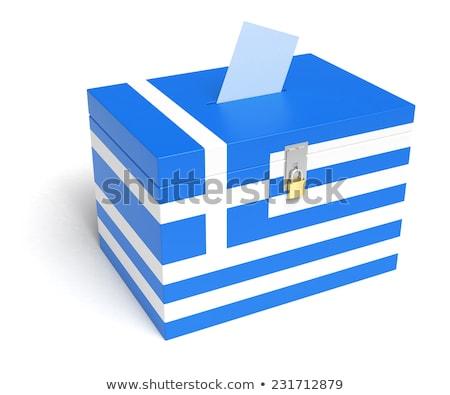 Yunanistan referandum 3d render iş bayrak pazar Stok fotoğraf © mariephoto