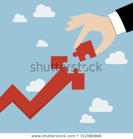 profit   jigsaw puzzle with missing pieces stock photo © tashatuvango