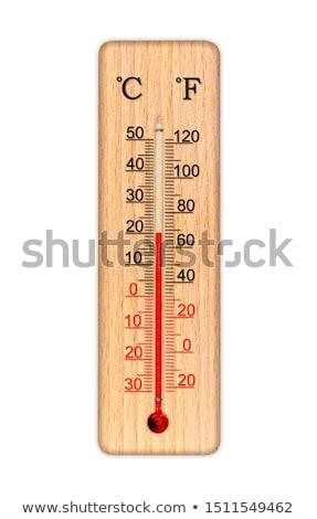 Ahşap termometre yalıtılmış beyaz kırmızı Retro Stok fotoğraf © GeniusKp