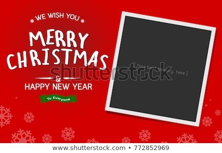 写真 インスタント フレーム クリスマスツリー 子供 ストックフォト © marimorena