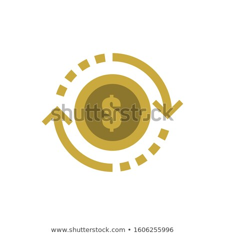 Dollar Currency Sign Circular Gold Vector Web Button Icon Stock photo © rizwanali3d