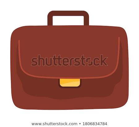 Office Bag Golden Vector Icon Button Stock photo © rizwanali3d
