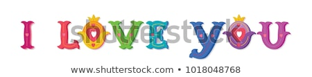 Liefde bericht veelkleurig frame woorden trots Stockfoto © karenr