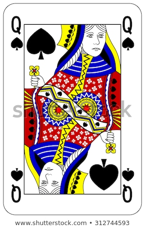 королева пики играет карт белый красный Сток-фото © Bigalbaloo