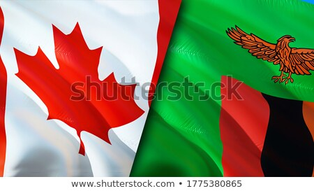 Canada and Zambia Flags  Stock photo © Istanbul2009