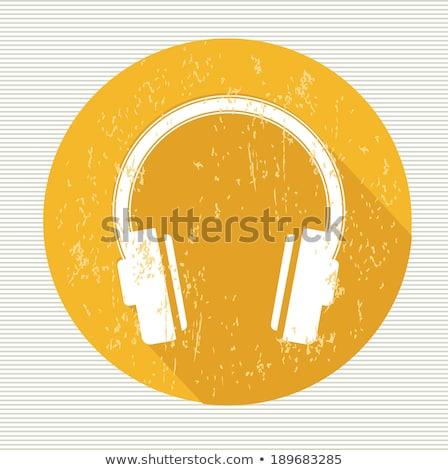 голову телефон желтый вектора икона дизайна Сток-фото © rizwanali3d