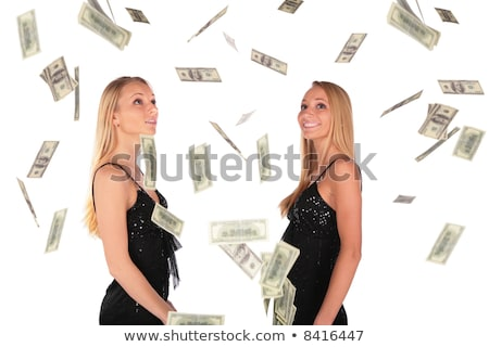 gêmeo · queda · dólar · negócio · casal - foto stock © Paha_L