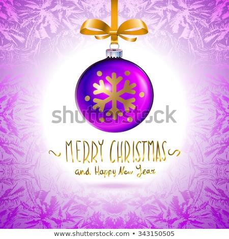 иллюстрация шаблон фиолетовый Рождества мяча Сток-фото © rommeo79