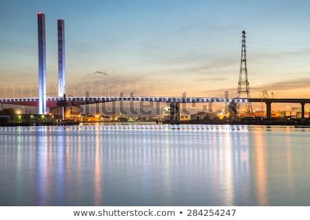 Ponte rio Melbourne ensolarado verão dia Foto stock © dirkr