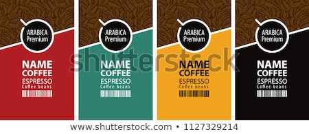 Four coffee logos stock photo © samado