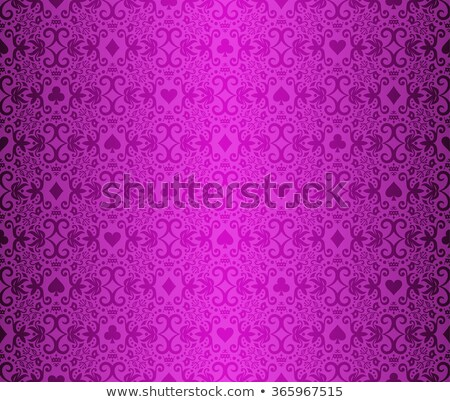 vintage purple poker background with classic ornament and cards symbols stock photo © liliwhite