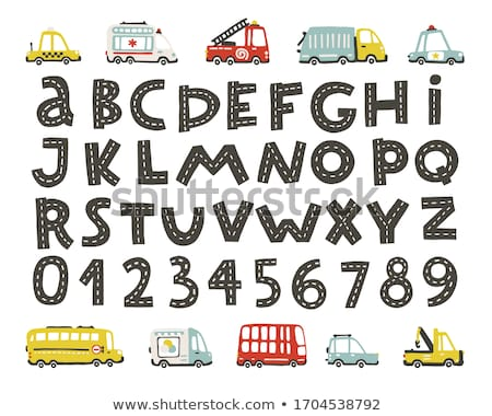 Photo stock: Cartoon · doodle · alphabet · Nice · design · isolé
