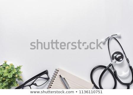 Stockfoto: Medische · objecten · uit · houten · tafel · ruimte · student