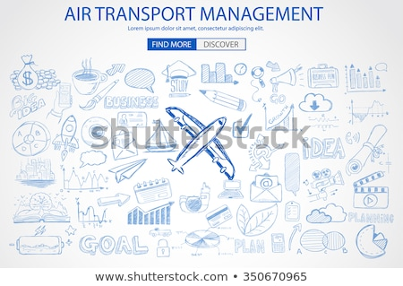 Air Transport Management Concept with Doodle design style Stock photo © DavidArts