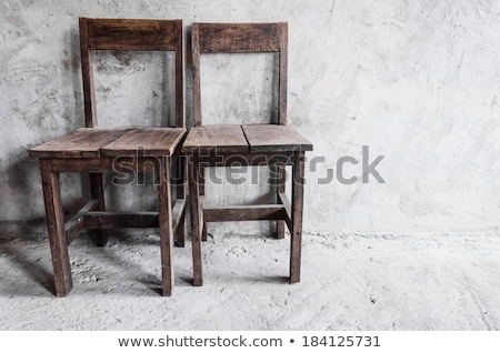Old wooden chair outdoors Stock photo © marimorena
