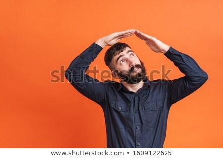 álom · gondolkodik · fiú · kéz · arc · boldog - stock fotó © choreograph