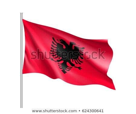 Flag of Albania, fluttering in the wind Stock photo © Antartis