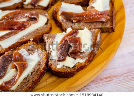Photo stock: Anchovy Canapes