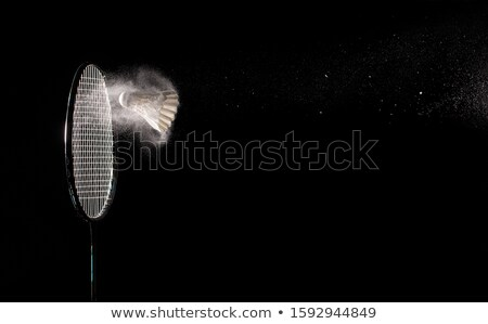 Shuttlecocks with Black Background Stock photo © luissantos84