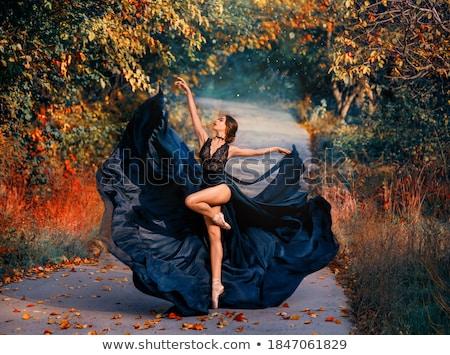 fiatal · gyönyörű · nő · hosszú · ruha · izolált · nő - stock fotó © user_9834712