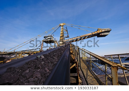 loading iron ore conveyor machine stock photo © mady70