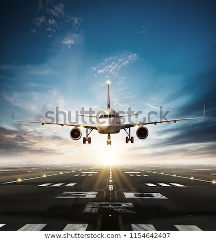 Avion terres illustration ciel nuages Photo stock © bluering