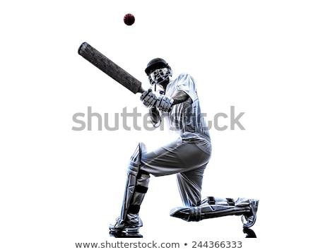 крикет игрок простой рисунок белый фитнес Сток-фото © bluering