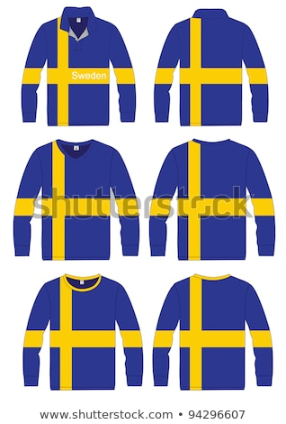 Homem branco camisas Suécia bandeira Foto stock © stevanovicigor