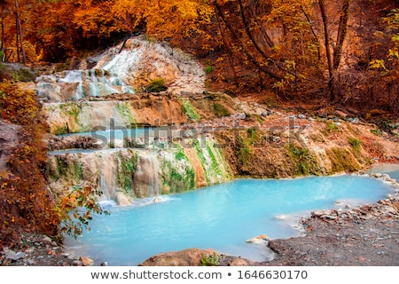Fosso Bianco hot springs in Bagni San Filippo stock photo © Viktor ...