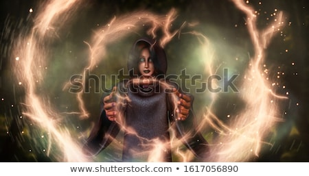 Manó nő varázslatos 3D renderelt kép boszorkány Stock fotó © ankarb