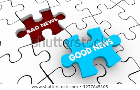 rompecabezas · palabra · una · buena · noticia · piezas · del · rompecabezas · construcción · noticias - foto stock © fuzzbones0
