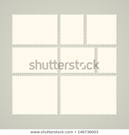 Postabélyeg számítógép generált kép keret terv Stock fotó © Irisangel