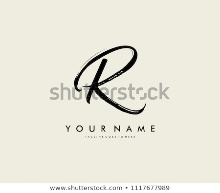 Logo Shape and Icon of Letter R, Vector Illustration stock photo © cidepix