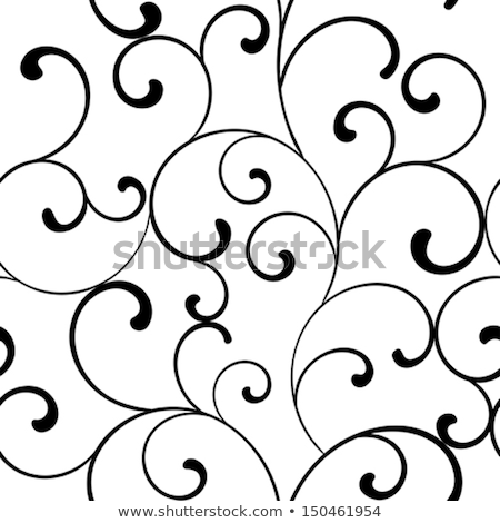 black swirls on white seamless pattern stock photo © evgeny89