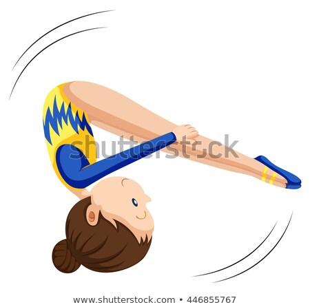 Kadın jimnastik takım elbise spor arka plan sanat Stok fotoğraf © bluering