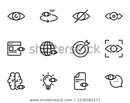 láthatóság · vonal · ikon · vektor · izolált · fehér - stock fotó © rastudio