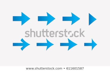 blue arrows vector illustration stock photo © -baks-