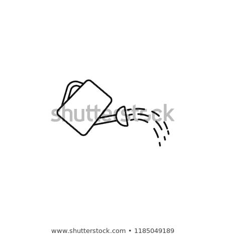 arrosoir · ligne · icône · vecteur · isolé · blanche - photo stock © rastudio