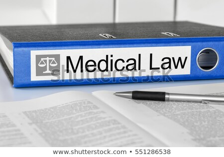 Blue folder with the label Medical Law Stock photo © Zerbor