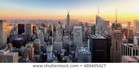 Manhattan · Skyline · panoramique · vue · blanc · noir · New · York - photo stock © oliverfoerstner