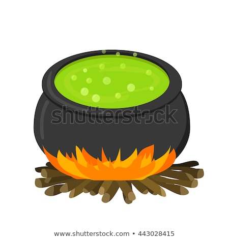Cauldron on firei in flat style Stock photo © jiaking1